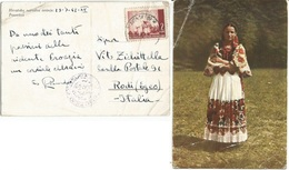 Bosnia Posavina 23lug1942 Italy Occ.Era Censored PPC By Soldier To Rodi Rhodes Aegean Islands VERY UNUSUAL - Bosnien-Herzegowina