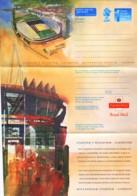 GRANDE BRETAGNE : Aérogramme Neuf - Cardiff - Millenium Stadium - Stade - Soccer