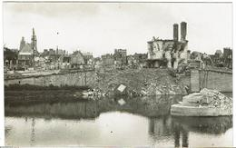 CP PHOTO - 60 - COMPIEGNE - Le Pont Et L'hôtel Du Pont-Neuf Bombardés En 1940 - Rare - - Compiegne