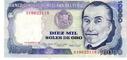 Peru P.124 10000 Soles 1981 Xf + - Perù