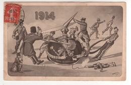 Satyrique  : 1914 ....découpe Du Casque à Pointe Par Les Alliés. .... écrite Le 07/01/15 - Guerre 1914-18