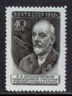 Russia / Soviet Union 1951 Mi# 1577 Q ** MNH - Short Set - Russian Scientists / K. E. Tsiolkovsky / Space - Ruimtevaart
