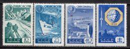 Russia / Soviet Union 1959 Mi# 2259-2261, 2277 ** MNH - Intl. Geophysical Year / Space - Ruimtevaart