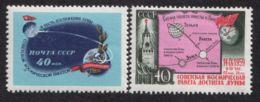 Russia / Soviet Union 1959 Mi# 2284-2285 ** MNH - Landing Of The Soviet Rocket On The Moon / Space - Ruimtevaart