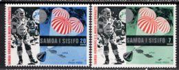 Samoa 1969 Mi# 204-205 ** MNH - Apollo 11 / Space - Ruimtevaart