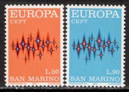 San Marino 1972 Mi# 997-998 ** MNH - Europa / Stars / Space - Ruimtevaart