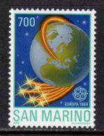 San Marino 1988 Mi# 1381 ** MNH - Short Set - Europa / Space - Ruimtevaart