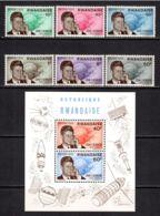 Rwanda 1965 Mi# 129-134, Block 5 A ** MNH - John F. Kennedy / Space - Ruimtevaart