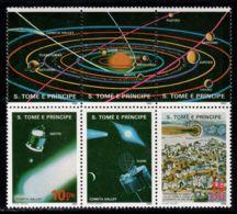 Sao Tome And Principe 1986 Mi# 952-953 ** MNH - Block Of 6 - Short Set - Halley's Comet / Space - Ruimtevaart