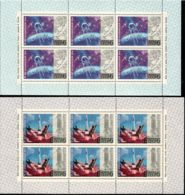 Russia / Soviet Union 1972 Mi# 4042-4047 Kleinbogen ** MNH - 6 Sheets Of 6 (3 X 2) - 15 Years Of Space Era - Ruimtevaart
