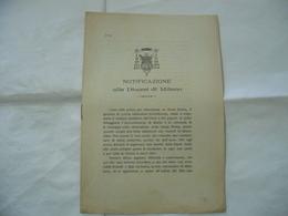 NOTIFICAZIONE ALLA DIOCESI DI  MILANO 1897. - Religion