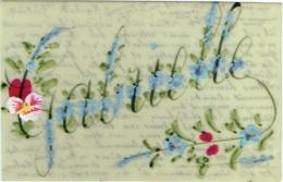 Celluloïd. Prénom : GABRIELLE. Rehauts De Fleurs  Peintes à La Main. - Voornamen