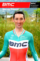 CARTE CYCLISME MARCO PINOTTI TEAM BMC 2013 SERIE BUSTE - Wielrennen