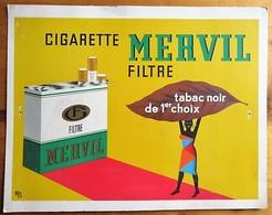 Mervil (Cigarettes) - Cardboard- 415 X 325 Mm - Objets Publicitaires