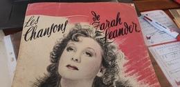 ZARAH LEANDER /9 CHANSONS DE FILMS +coupure De Presse En Allemand - Scores & Partitions