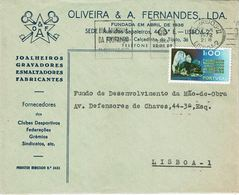 Portugal , 1972 , Geology Wolframite Stamp , Dia Mundial Da Poupança Mechanical  Postmark ,  Oliveira & A. Fernandes - Wetenschappen