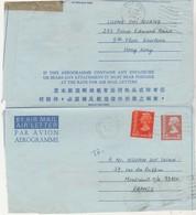 Aérogramme Hong-Kong 1976 / + Complément / Pour La France - Sonstige