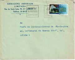 Portugal , 1972 , Geology Wolframite Stamp , Dia Mundial Da Poupança Mechanical  Postmark ,  Armazéns Imperium - Wetenschappen