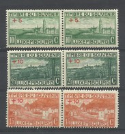 LUXEMBURGO  YVERT  137/39  (PAREJA)   MNH  ** - 1921-27 Charlotte Voorzijde