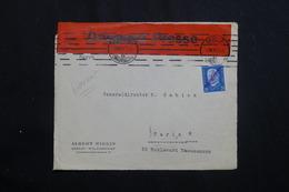 """ALLEMAGNE - Bande """" Dringend Presse """" Sur Devant D'enveloppe De Berlin Pour Paris En 1931 -  L 62014 - Storia Postale"""