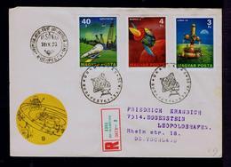 Satélits Telecommunications Cosmos HUNGARY Fdc SZPUTNYIK-1, MARSZ-3, LUNA-24 Transports Sp6898 - Otros (Aire)