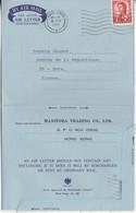 Lettre Avion Aérogramme Hong-Kong A 1972 / + Complément / De Manitoba / Pour Jeunet  Dole 39 / Achat Bicyclettes - Sonstige