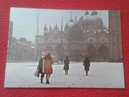 POSTAL POST CARD ITALIA ITALY VENECIA VENEZIA VENICE VENISE NEVICATA NEVADA NIEVE SNOW SNOWFALL SCHNEEFALL CARTE POSTALE - Venezia (Venice)