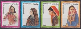 PAKISTAN : COSTUMES N° 815/818 NEUFS ** GOMME SANS CHARNIERE - TRES FRAIS - Pakistan