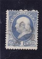Etats Unis D'Amérique - USA - US Postage - 1870 - N° Michel 36 - On Cent - Benjamin Franklin - Oblitéré - Used Stamps