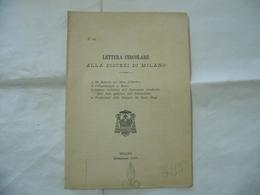 LETTERA CIRCOLARE PELLEGRINAGGIO A ROMA RELIQUIE DEI SANTI MAGI MILANO 1903. - Religion