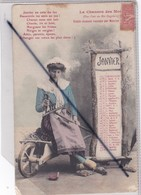 Thème Calendrier Mois De Janvier ;jeune Femme Assise Sur Une Brouette -La Chanson Des Mois - Otros