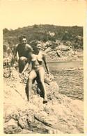 CARTE PHOTO COUPLE TOTALEMENT NU NATURISME NAKED NU EROTISME EROTICISM CURIOSA PHOTO ARTISTIQUE WOMAN - Desnudos Adultos (< 1960)