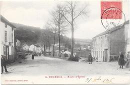 88 POUXEUX - Route D'EPINAL - Animée - Pouxeux Eloyes