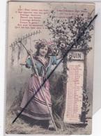 Thème Calendrier Mois De Juin ;jeune Femme Avec Son Râteau -La Chanson Des Mois - Sonstige