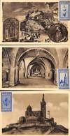 Marseille - ND De La Garde - Lot De 3 Cartes Avec Vignettes - Commemorative Labels