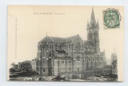 CPA 1907 LOIRE MARLHES EGLISE CACHET AMBULANT CONVOYEUR FIRMINY ANNONAY TBE - Autres Communes