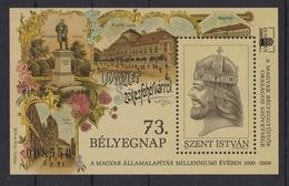 Pannonhalma ABBEY 2001 Stamp Day HUNGARY HUNFILA ST Stephen King MABÉOSZ Philatelists Commemorative Sheet Block - Commemorative Sheets