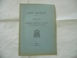 SANT'ARIALDO LETTERA DEL CARDINALE ARCIVESCOVO DI MILANO 1904. - Religion