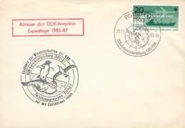 ALLEMAGNE DE L'EST DDR LETTRE NON VOYAGEE BIOLOGIE ANTARCTIQUE EXPEDITION 1985-87 TB - Fauna Antartica