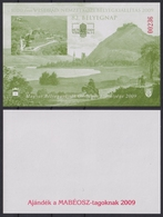VISEGRÁD Danube Fortress Castle 2009 Stamp Exhibition Day HUNGARY MABÉOSZ Philatelists Commemorative Sheet BLACKPRINT - Commemorative Sheets