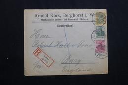ALLEMAGNE - Enveloppe Commerciale En Recommandé De Borghorst Pour Le Royaume Uni En 1906 -  L 62022 - Allemagne
