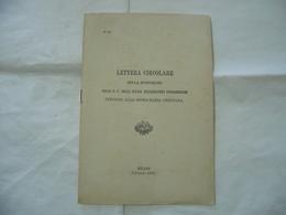 LETTERA CIRCOLARE AFFARI ECCLESIASTICI INTORNO ALLA DEMOCRAZIA MILANO 1902. - Religion