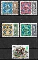 1968-78 Bermudas Aniv. Declaracion Derechos Humanos-fauna Lagartija 5v. - Bermuda