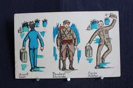 JA 216 - Humour - Militaires - Avant - Pendant - Après -  Voor - Durende - Achter - Pas Circulé - Humour