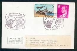 ESPAGNE SPAIN LETTRE TRAITE ANTACTIQUE 1961-86 Barcelone Pour Niort 1986 TB - Trattato Antartico