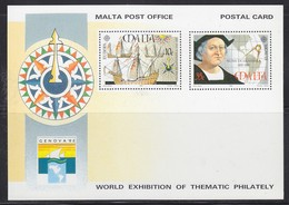 Europa Cept 1992 Malta Genova Postal Stationery Postcard Unused (47921) - Europa-CEPT