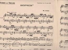 """""""Hopser """" Musique Et Théâtre 1925 Piano  Et """"Le Marabout"""" Fox-Trot Piano  OP 527 Ernest Weiller BE - Scores & Partitions"""