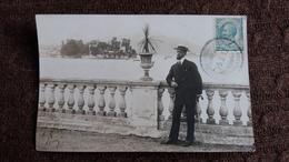 CPA PHOTO DU LAC MAJEUR HOMME BIEN HABILLE PLANTE 1912 - Other Cities