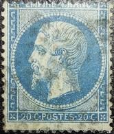 N°22. Variétés (Double Lune Ou U Au-dessus De La Tête). Oblitéré étoile De Paris N°?? - 1862 Napoléon III