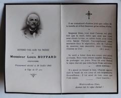 Faire Part De Décès Louis Buffard Industriel Né à Tinchebray 1943 Orne 61 - Décès